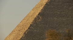 Enormous stones of Great Pyramid at Giza, Egypt, mid-shot telephoto - stock footage
