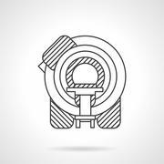 Flat line MRI device vector icon Stock Illustration