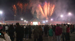 Fireworks in Markham for Chinese moon festival mid-autumn Stock Footage