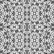 Abstract seamless outline pattern Stock Illustration