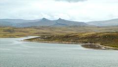 Falkland Islands Nature Landscape Close-up Pan Stock Footage