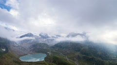 Clouds at Sustenpass Stock Footage