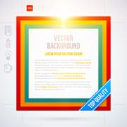 Stock Illustration of Colorful text frame on white background. EPS10