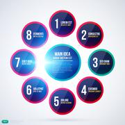 Stock Illustration of Organization chart template with simple round elements. EPS10