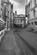 Stunning image of Cambridge City and University locations in black and white - stock photo