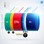 Infographics chart template with 3d cylinder. EPS10 Stock Illustration