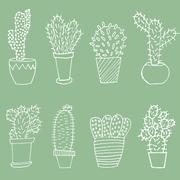 Stock Illustration of Cactus set