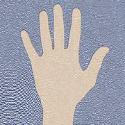 hand and fingerprint - stock illustration