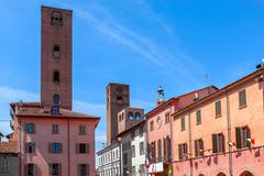 Stock Photo of Old town of Alba, Italy.