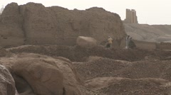 Stock Video Footage of Archaeology workers excavate Egyptian archealogical dig at Aswan