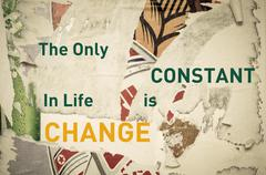 Inspirational message - The Only Constant in Life is Change Stock Illustration