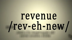Definition: Revenue Stock Footage