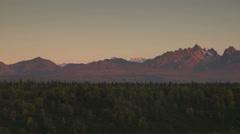 Mountains of the Denali Range Tight Shot Panning Across Stock Footage