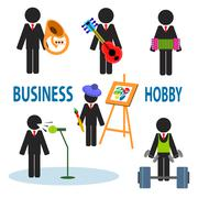 Business hobby - stock illustration