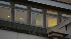 4K Exterior view of city hospital building in the evening - stock footage