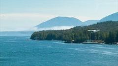 Seaplanes Flying from Ketchikan Alaska Stock Footage
