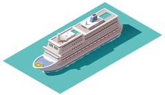 Vector isometric cruise ship Stock Illustration