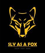 Fox. sly as a fox. Fox Head Stock Illustration