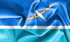 Midway Islands Flag - stock illustration