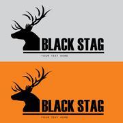 Black Buck. Black stag. Stock Illustration