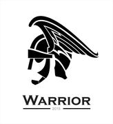 Warrior. warrior helmet,warrior head,warrior profile, - stock illustration