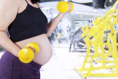 Healthy motherhood concept 1 - stock photo