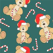 Christmas Teddy bear Stock Illustration