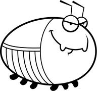 Sly Cartoon Cockroach - stock illustration