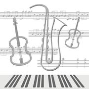 Notes viola Stock Illustration