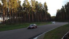 Sports Cars Racing In the Competition HD Arkistovideo