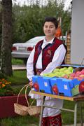 Stock Photo of Oicture of a RESEN, MACEDONIA. 27 SEPTEMBER 2015- Boy and girl in traditional