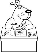 Cartoon Dog Crafts - stock illustration