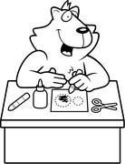 Cartoon Cat Crafts - stock illustration