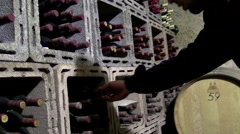 wine bottle selection - stock footage