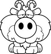 Stock Illustration of Cartoon Sad Goat