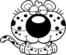 Stock Illustration of Cartoon Goofy Leopard