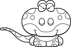 Cartoon Sly Gecko - stock illustration