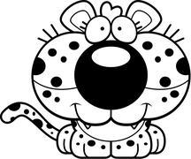 Cartoon Leopard Smiling Stock Illustration