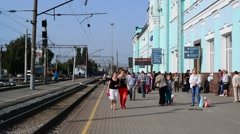 GRYAZI, RUSSIA - 09.28.2015. major railway center of the South-Eastern Railwa Stock Footage