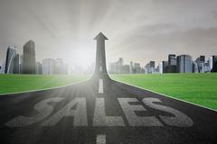 Stock Illustration of The way to grow sales