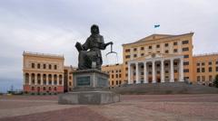 Kazakh Humanitarian Law University in Astana Stock Footage