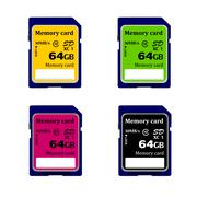 Stock Illustration of memory card in vector