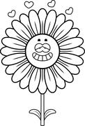 Daisy in Love - stock illustration
