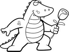 Alligator Flower - stock illustration