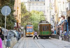 Retro cable tram car - stock photo