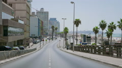 Tel Aviv city timelapse at atonement day Stock Footage