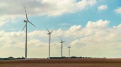 Wind Turbines Landscape 2, Time Lapse Stock Footage