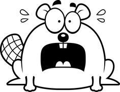 Stock Illustration of Terrified Little Beaver