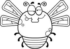 Drunk Little Dragonfly - stock illustration
