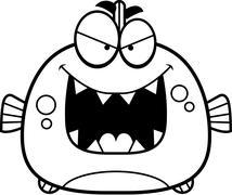 Evil Little Piranha Stock Illustration